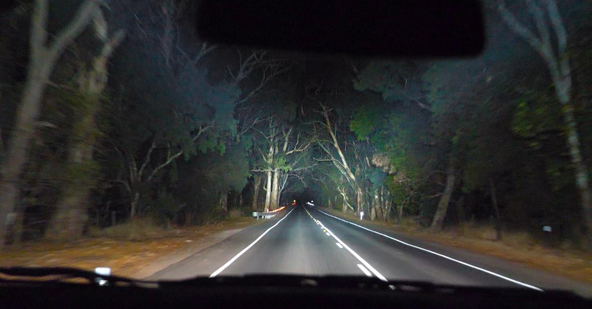 180 spotlight beam shot