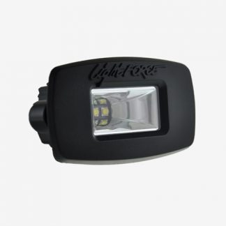 ROK 20 LED Utility Light - Ultra Flood Flush Mount (Black) - Angled Image