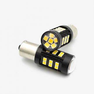 BA15 LED Globe Pair