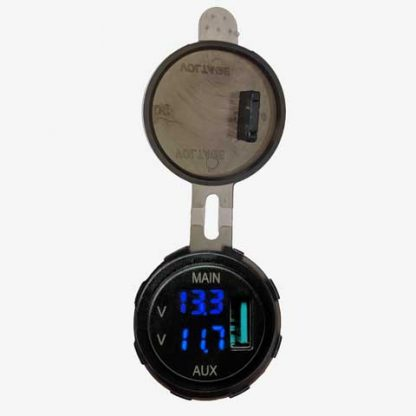 Dual Voltmeter with USB Charger