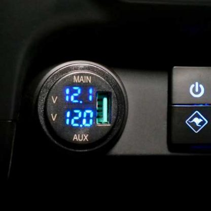 Lightforce Dual Voltmeter with USB Charger